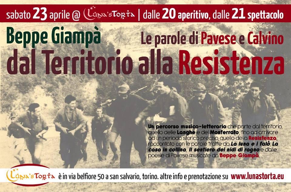 """Beppe Giampà a Torino con le parole di Pavese e Calvino dal Territorio alla Resistenza – """"Torino che legge"""""""